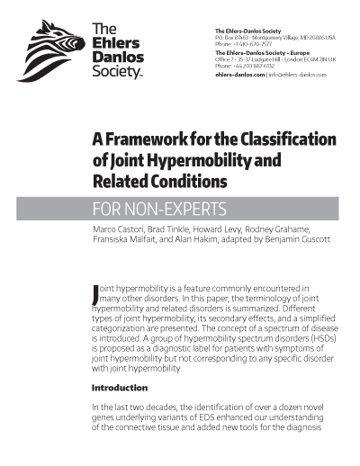 Framework for the Classification of Joint Hypermobility