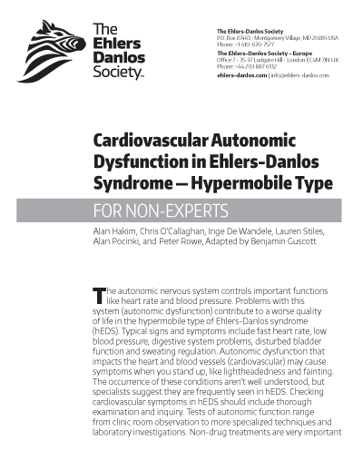 Cardiovascular Autonomic Dysfunction in hEDS