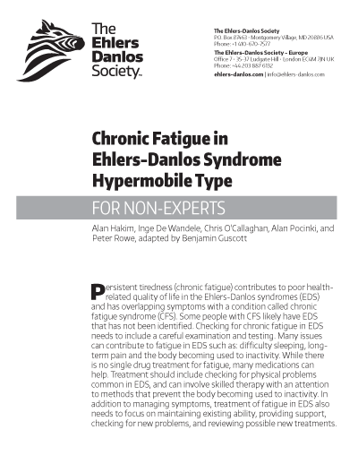 Chronic Fatigue in Ehlers-Danlos Syndrome-Hypermobile Type (for Non