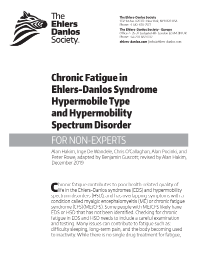 Chronic Fatigue in hEDS