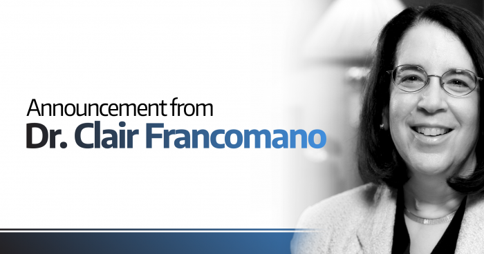 Announcement from Dr. Clair Francomano