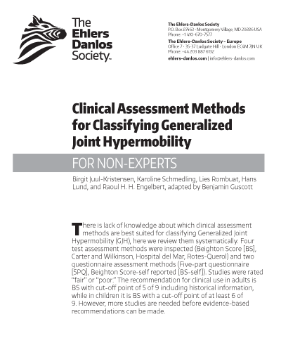 Clinical Assessment Methods for Classifying Generalized Joint Hypermobility