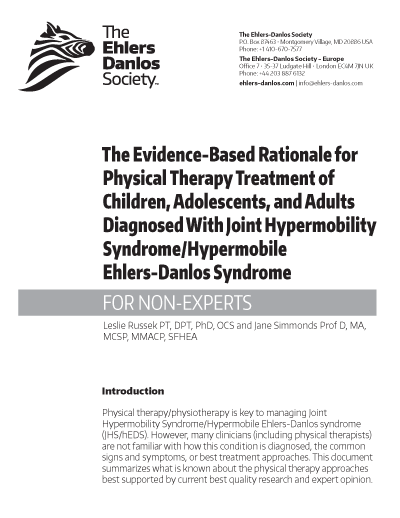 Evidence-Based Rationale for Physical Therapy Treatment