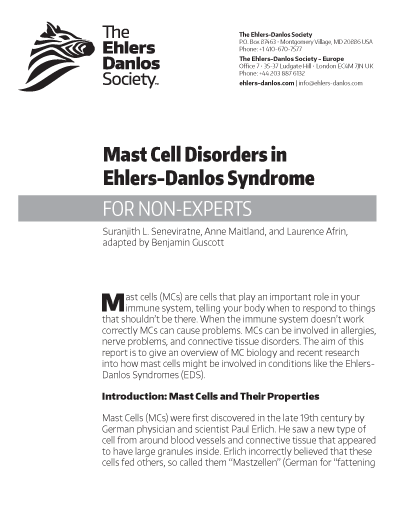 image regarding New Mass Responses Printable known as Mast Cellular Conditions within Ehlers-Danlos Syndrome (for Non