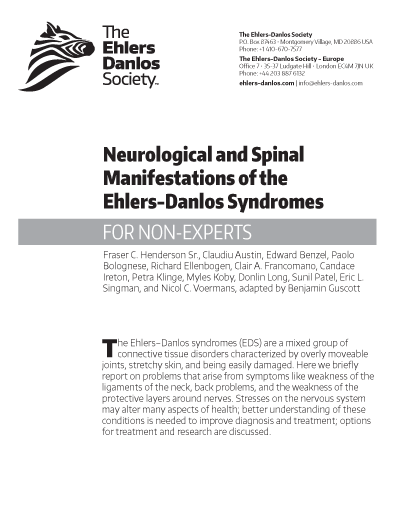 Neurological and Spinal Manifestations of EDS