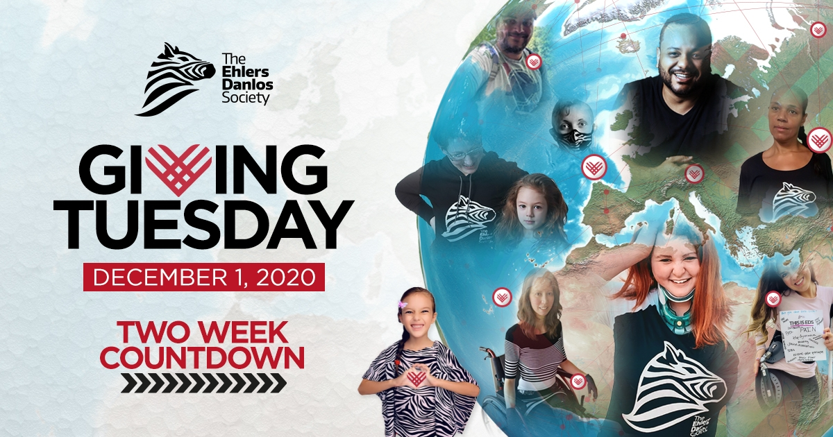 Giving Tuesday 2020 Two Week Countdown. Join our community from around the world, pictured in Society tshirts, raising awareness.