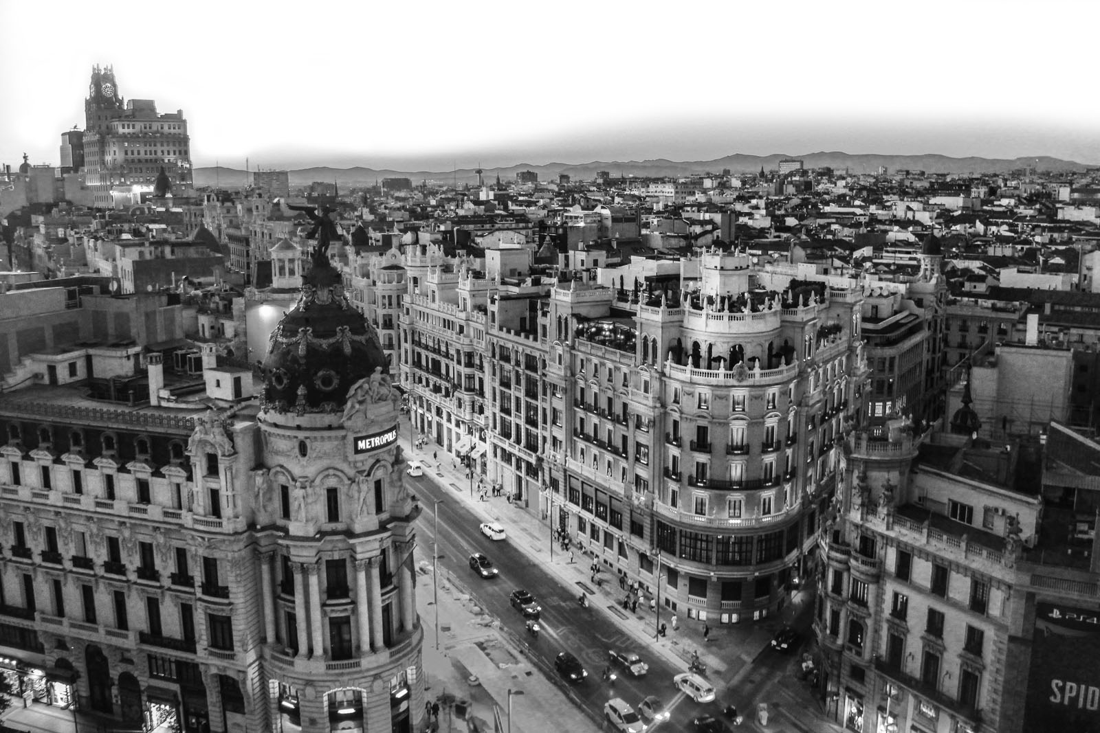 Black And White Madrid sky view of old madrid | the ehlers danlos society : the