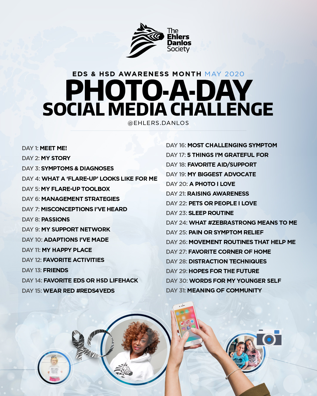 2020 May Awareness Photo A Day Challenge The Ehlers Danlos Society The Ehlers Danlos Society