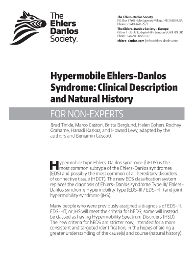 Hypermobile EDS: Clinical Description and Natural History