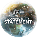 An image of a globe is shown with the Society logo and text reads 'Community Statement.'