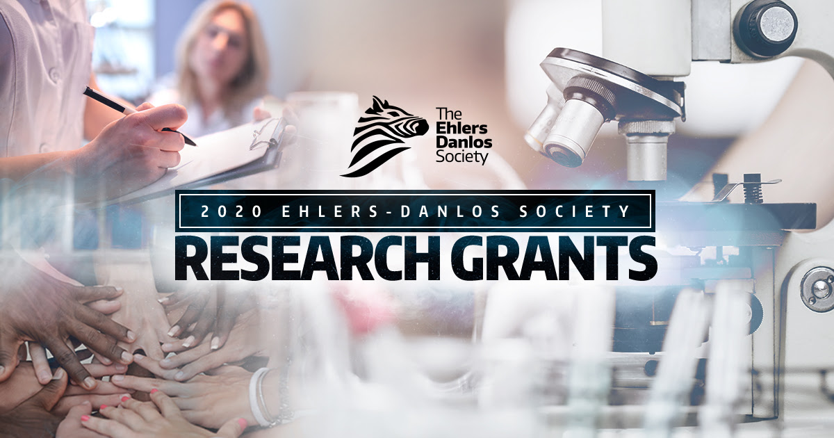 2020 Research Grants. Clinical research takes place in the left hand corner. Hands come together in the bottom left corner, and a microscope sits in a laboratory.