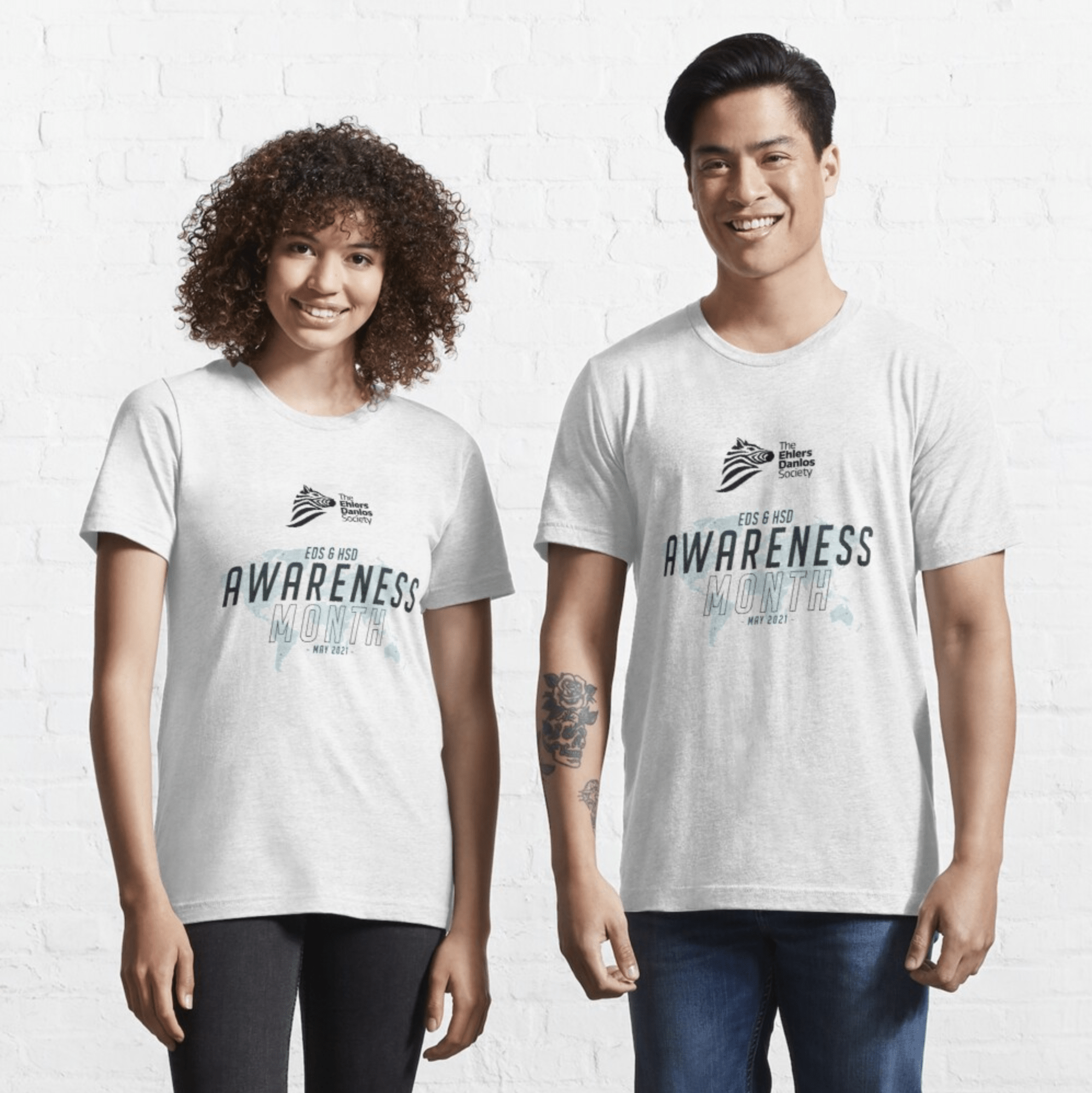 May awareness white tshirt