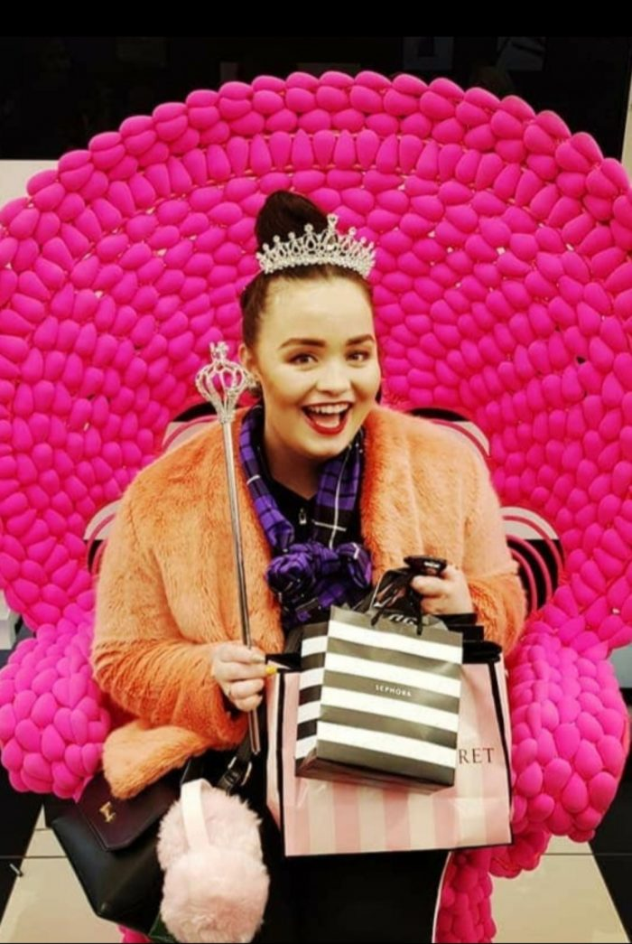 Me on holiday in Sephora NYC spending my first teacher wage.