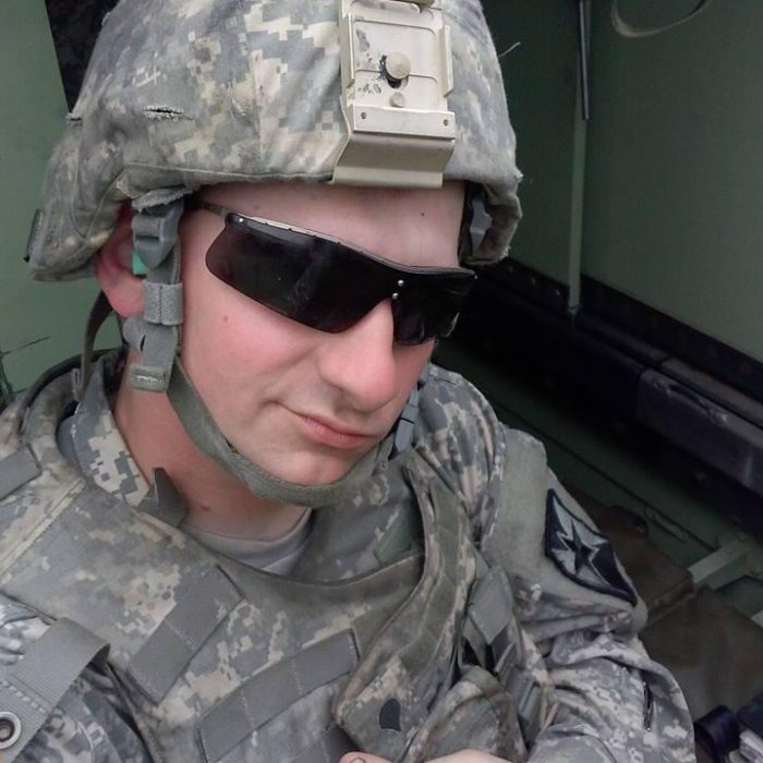 A photo of me during my time in service with the 891st Engineer Battalion, 235th Regional Support Group of Fort Riley, Kansas.