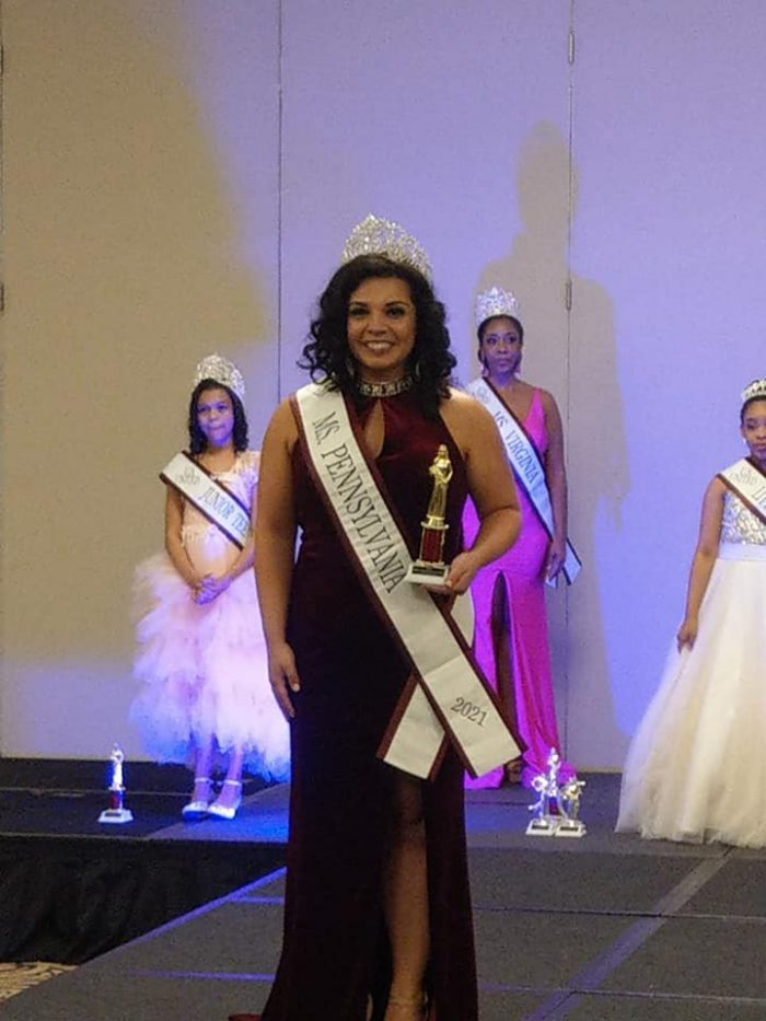 Me following my dreams, not letting my limitations define me, winning Ms. Pennsylvania US United 2021!