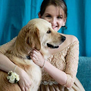 Teen Girl And Service Dog Wear Adorable Matching Prom Dresses | The Ehlers  Danlos Society : The Ehlers Danlos Society