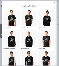 Sample of web page and shop link