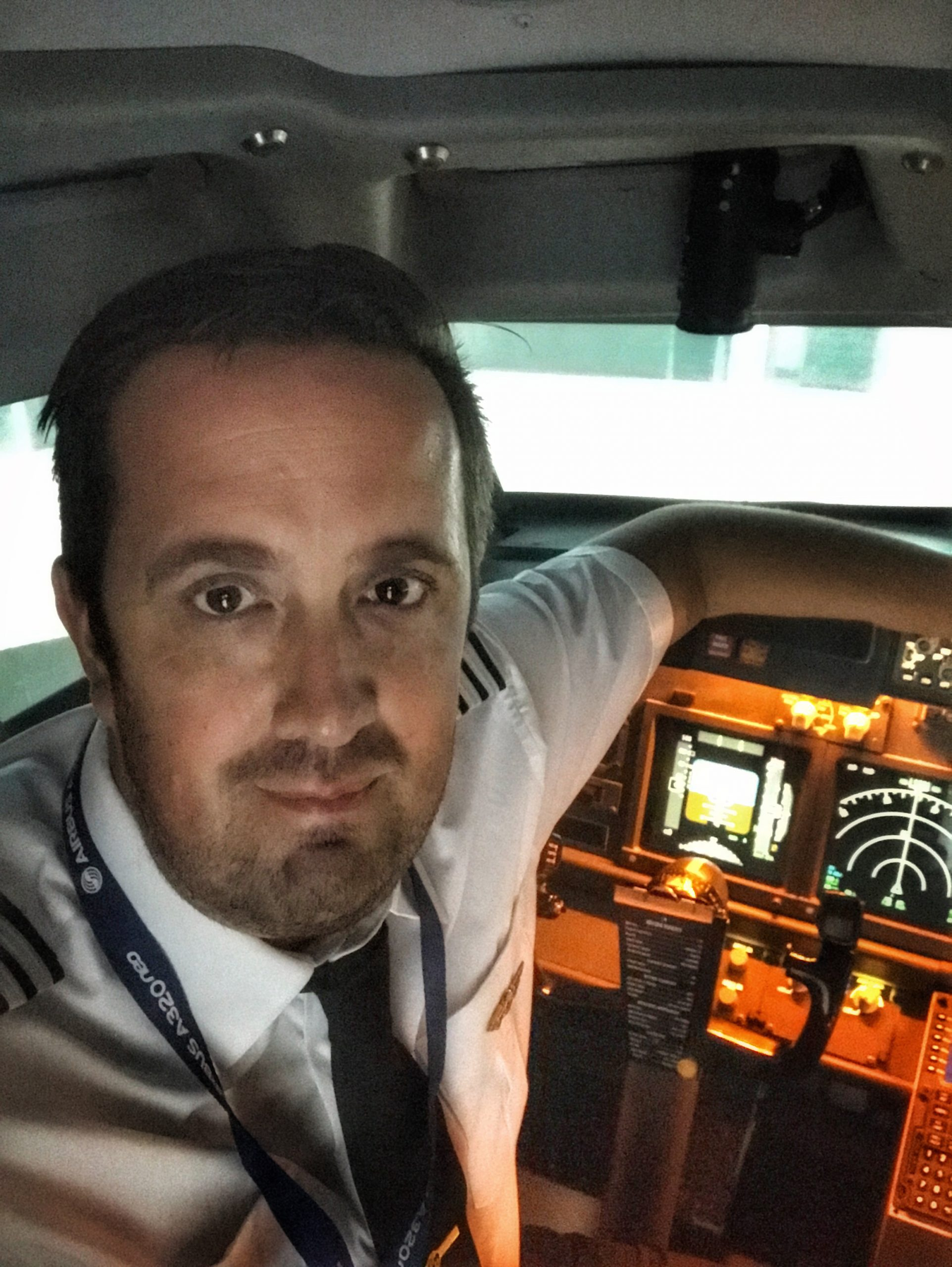 Simon in the cockpit of his aircraft