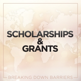 "the graphic reads ""scholarships and grants"""