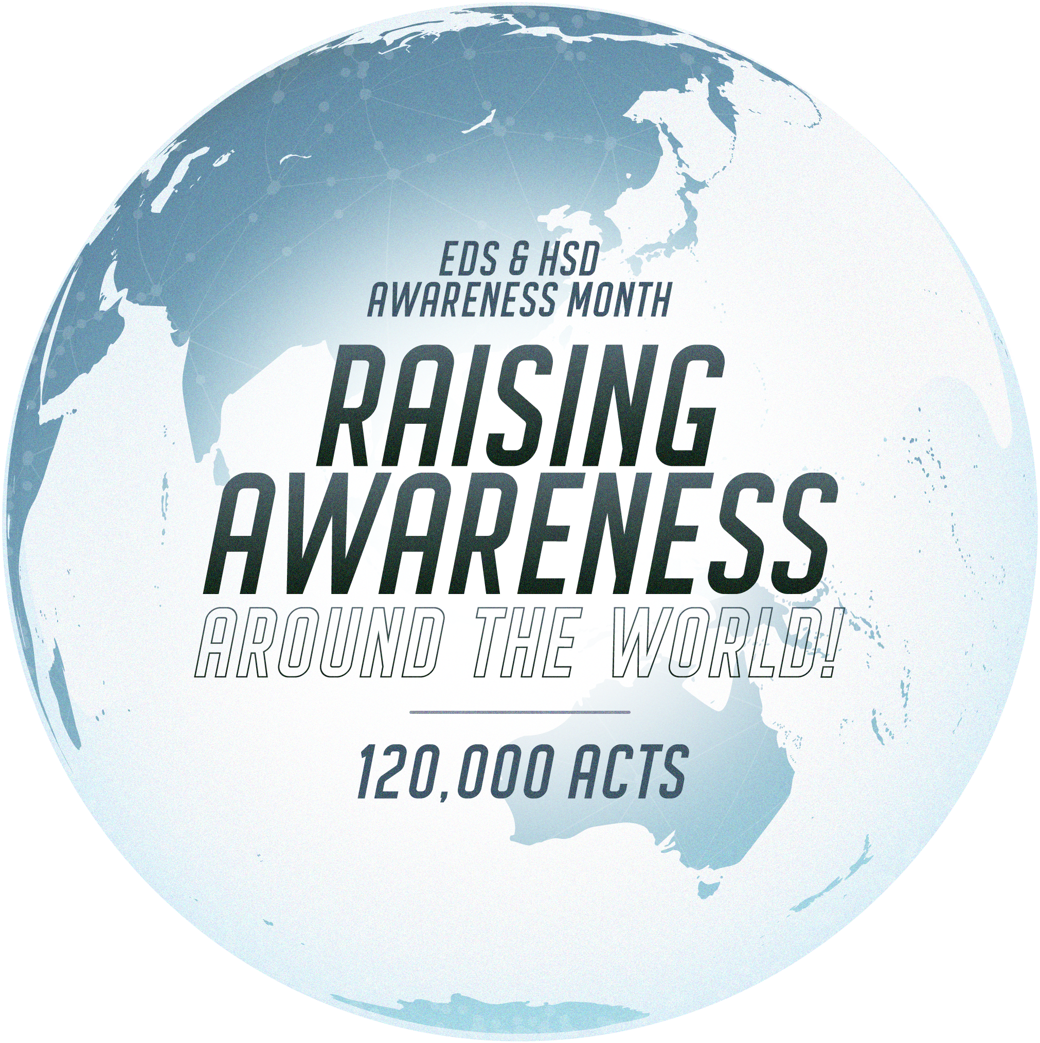 Raising awareness around the world 120,000 acts of awareness