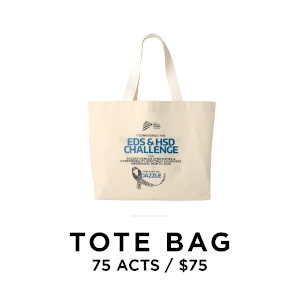 Tote bag for 75 acts of awareness