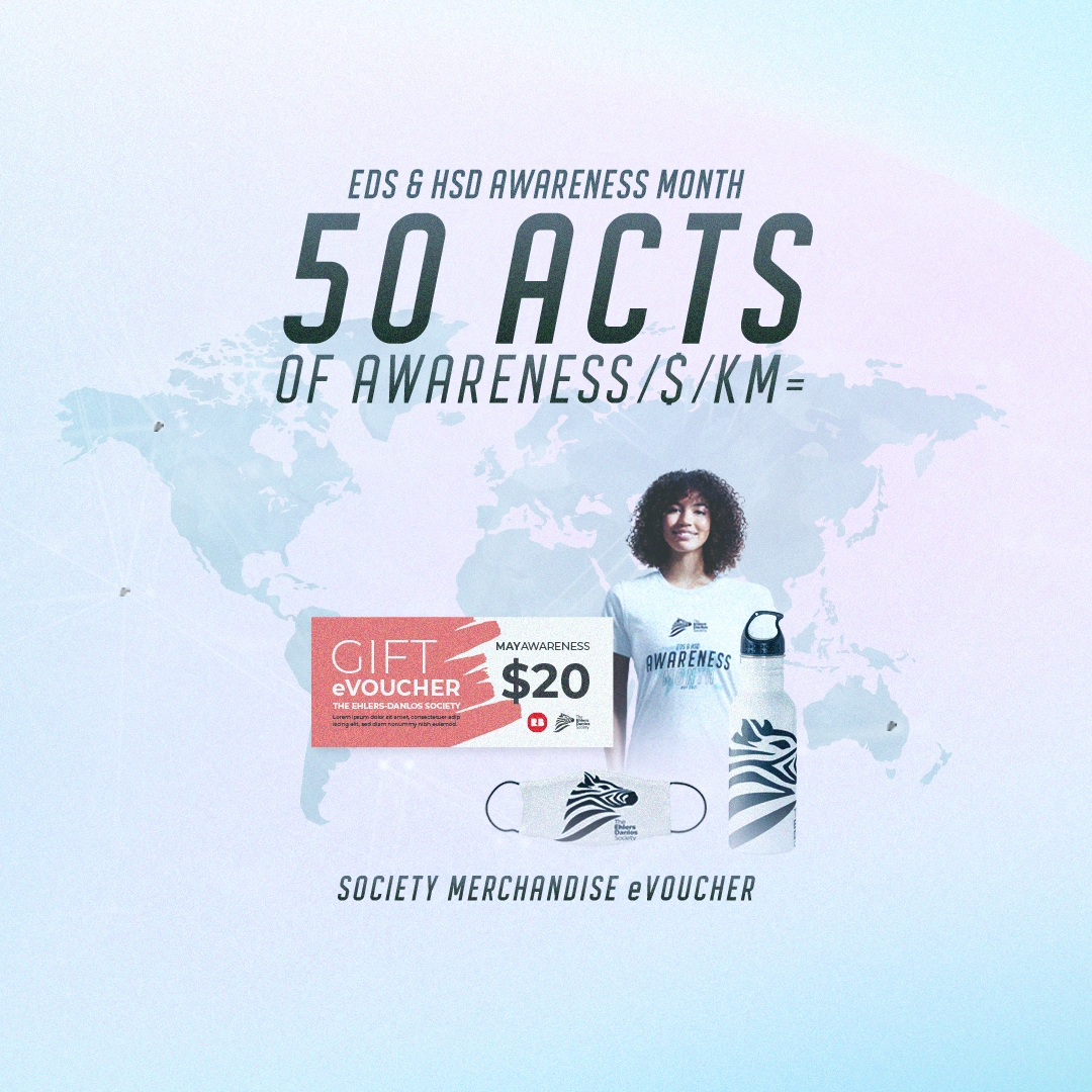 50 acts of awareness/$/KM = Society Merchandise $20 evoucher for RedBubble Store